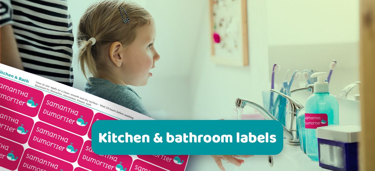 Kitchen & Bathroom labels