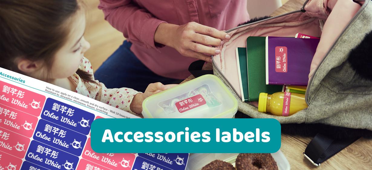Accessories labels